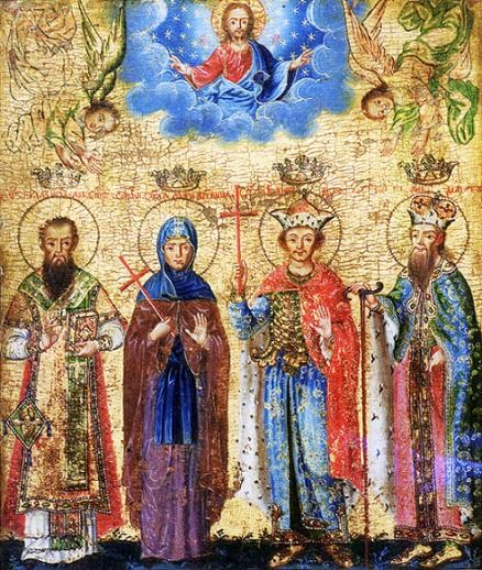 Святые Бранковичи, икона 1753 г. Никола Нешкович