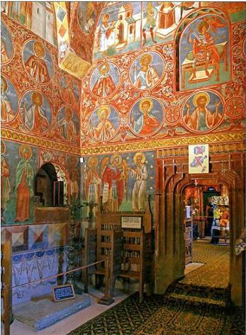 Монастырь Воронец (Румыния), могила прп. Даниила Воронецкого, пустынника