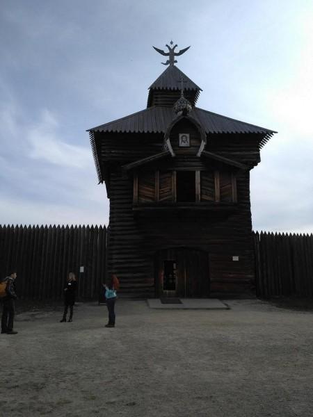 Спасская проезжая башня Илимскаго острога