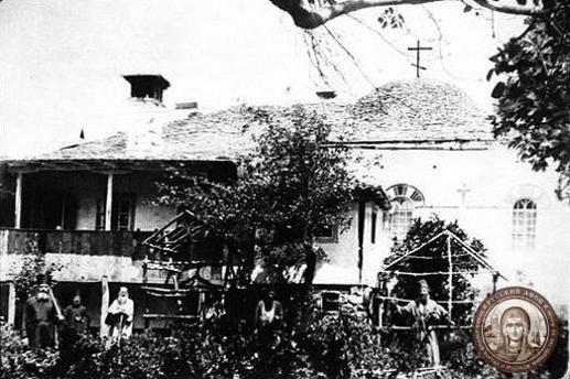 Грузинская келия Иоанна Богослова на Афоне, фотография начала XX века.