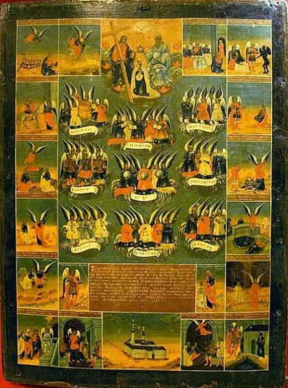 икона Девять Ангельских Чинов