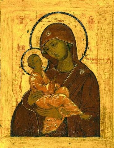 Египетская икона Божией Матери. Конец XVI в. Третьяковская галерея