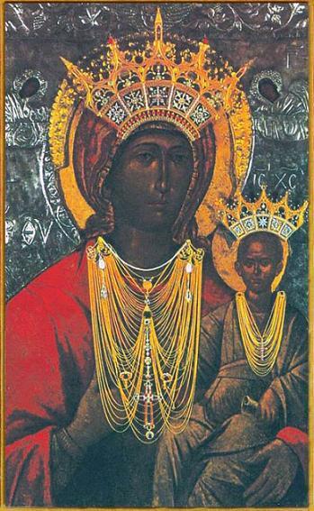 Икона Божией Матери Месопантитисса Критская (Ираклеонский список)