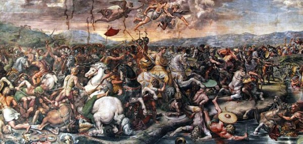 Рафаэль. Битва у Мульвийского моста (Ватикан)
