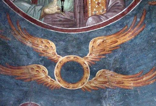 Монастырь Грачаница, Сербия, Косово. Ангельские чины - Престолы. 1-я половина XVI века.
