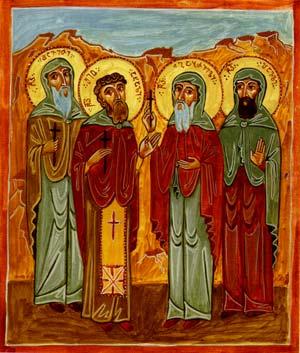 Святые Преподобномученики Шио Новый, Давид, Гавриил и Павел Гареджийские