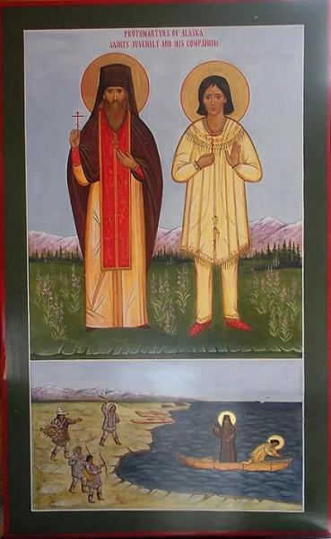 Иувеналий (Говорухин), Аляскинский, иеромонах, миссионер, первомученик Американский и его помощник и брат иеродиакон Стефан