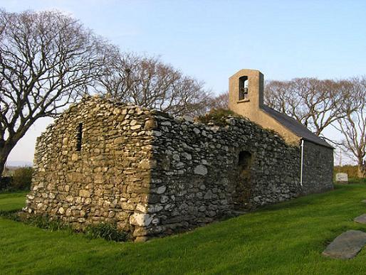 церковь прп. Адамнана Ионского, о. Мен, Шотландия (Old Lonan (St Adamnan's) church)