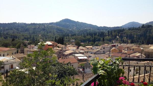 корфу параскевы вид на деревню