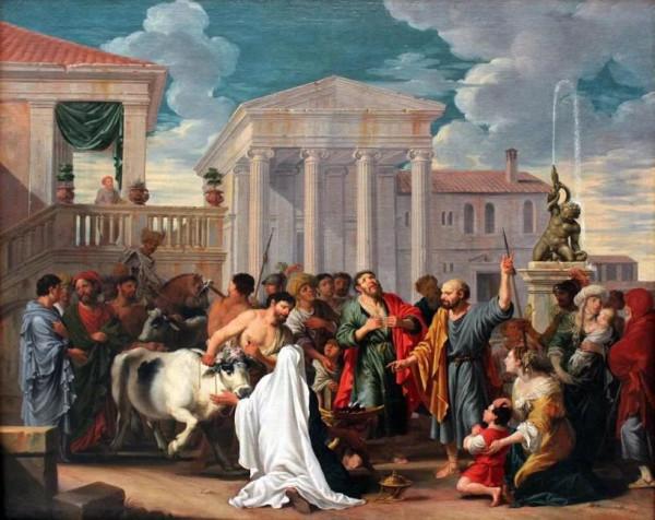 Проповедь апп. Павла и Варнавы в Листре (Paul and Barnabas in Lystra, by Johann Heiss)