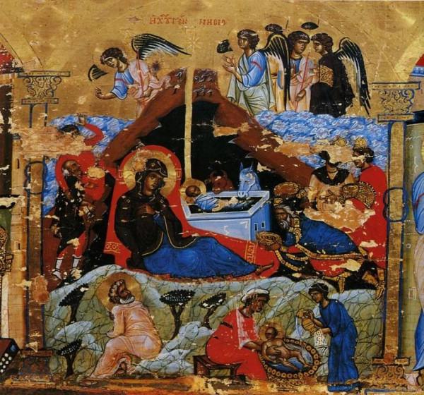 Рождество Христово. Икона-эпистилий. Последняя четверть XII в. Монастырь святой Екатерины, Синай. Фрагмент