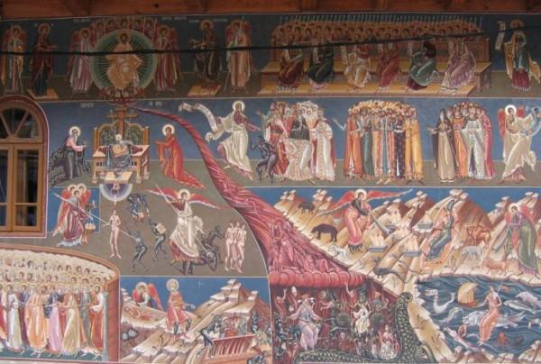 Наружная роспись церкви Святого Георгия в Воронец, Сучава, Румыния, 1547 год