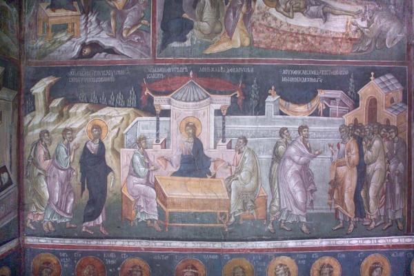 Явление Христа в Светлый Понедельник, Сербия. Косово. Монастырь Грачаница. Неф, XIV век