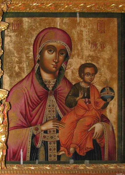 Цесарская икона Божией Матери. Кострома, Ипатьевский монастырь, Собор св.Троицы