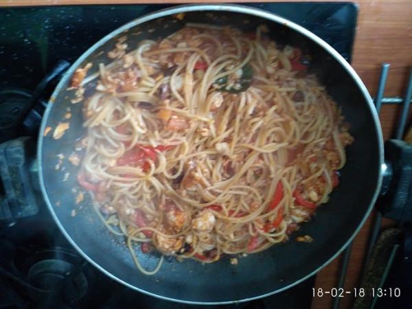 спагетти с рыбой 3