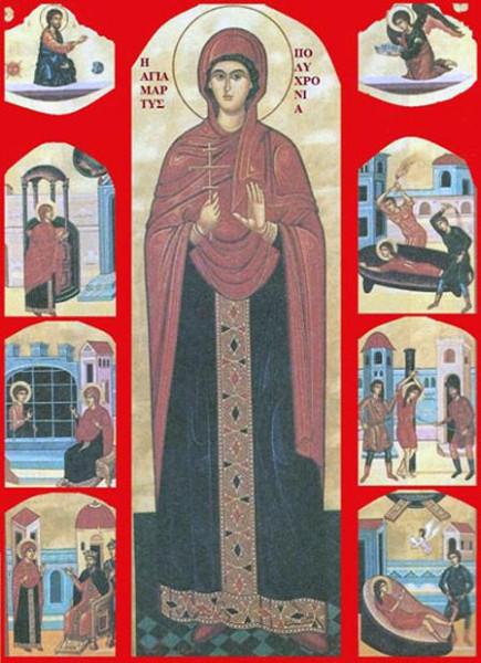 Мц. Полихрония, мать вмч. Георгия
