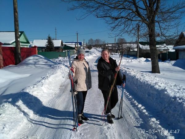 деревня лыжницы