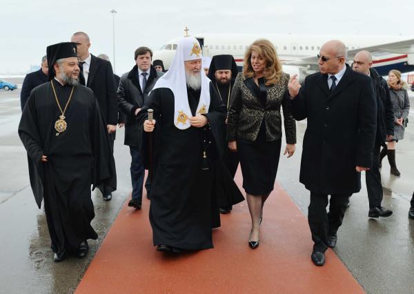 Визит Святейшего Патриарха Кирилла в Болгарию. Прибытие в Софию, 2 марта 2018 года