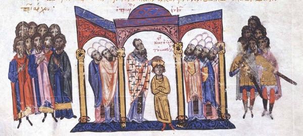Патриарх Евфимий I коронует Константина VII Багрянородного в со-императоры
