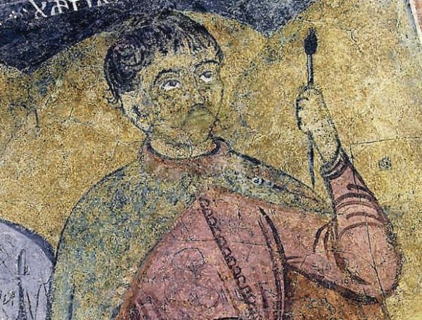 Пырву Муту. Автопортрет, фреска храма в Бордешти