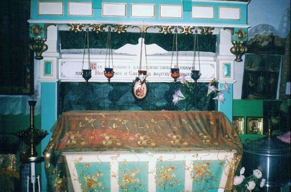 Рака с мощами прав. Пелагии (Горленко). Яблуновский Преображенский храм