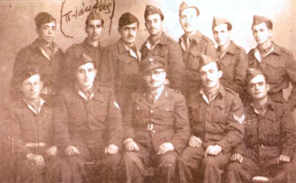 Отец Яков в армии с командиром полка и сослуживцами
