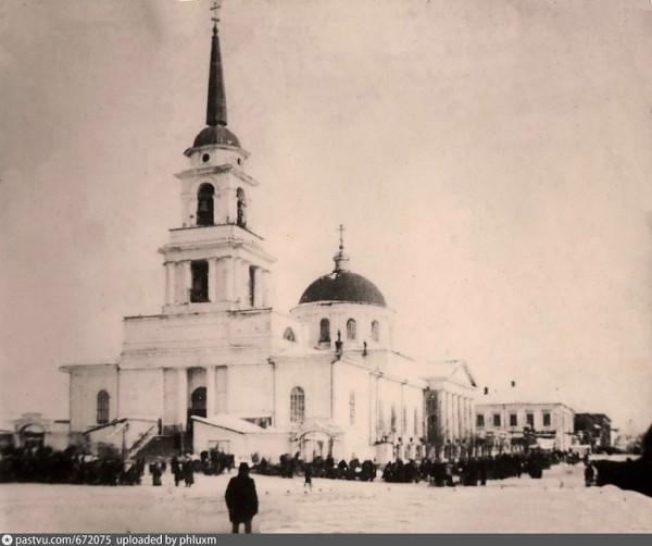 Воткинский завод. Вид на Благовещенский собор, фото до 1917 года