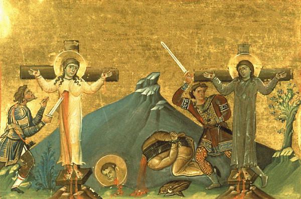 Мученицы девы Марфа и Мария и брат их, мученик Ликарион