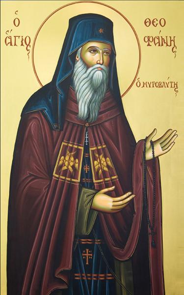 Преподобный Феофан Новый, Мироточивый, епископ Солийский