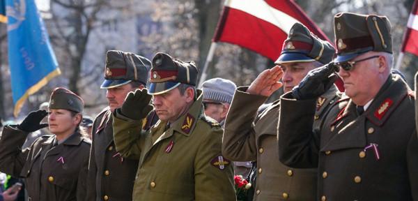 шествие бывших легионеров СС в Риге