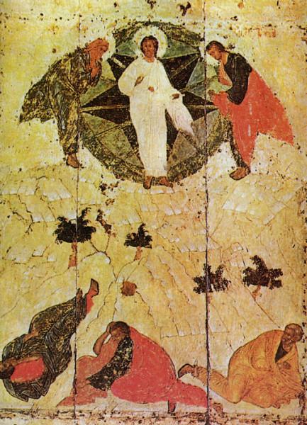 Андрей Рублев. Преображение Господне, начало 15 века, иконостас Троицкого собора Лавры