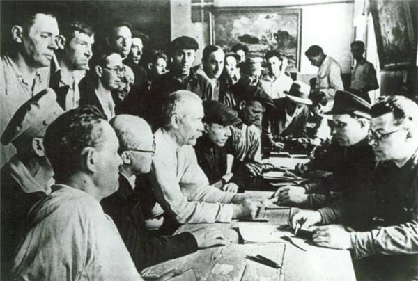 _Ленинград Запись добровольцев на фронт июнь 1941 года