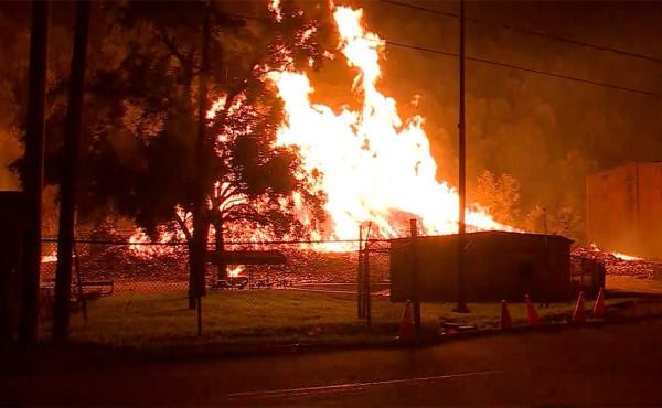 Пожар на складе Jim Beam в Кентукки