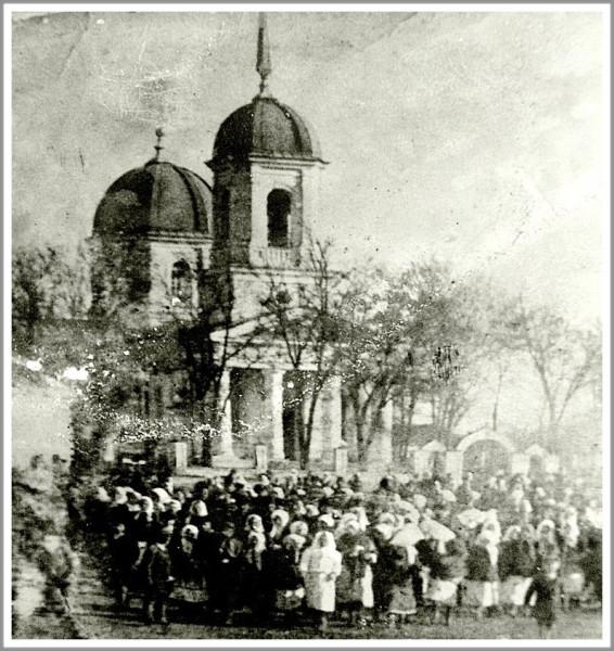 Храм в Водяном, разрушенный большевиками