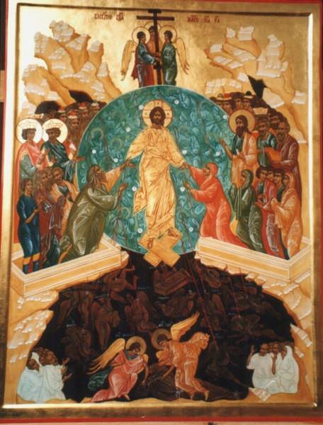 Воскресение Господне. Россия,начало XVIв., работа мастерской Дионисия