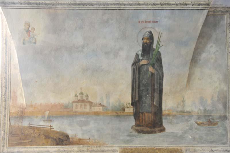 прп_Антоний_Римлянин_Антониев монастырь_В_Новгород_фреска