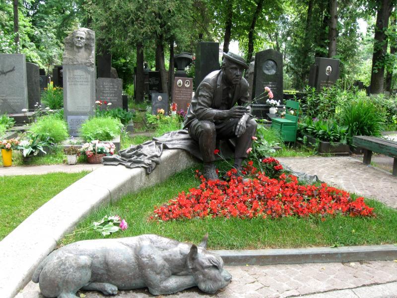 Юрий_Никулин_могила_Новодевичье_кладбище