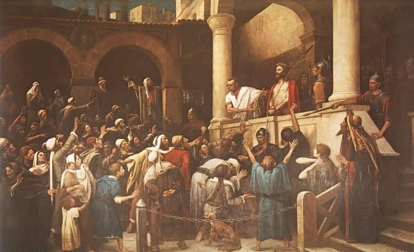 Распни_Его_Муканчи_Христос перед Пилатом