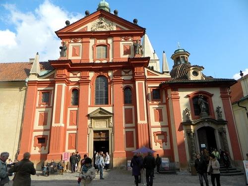 Храм св_Георгия в Праге, где покоятся честные мощи св. Людмилы