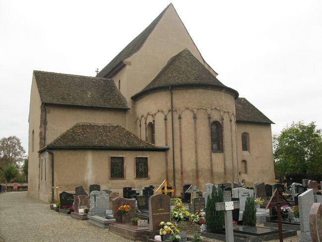 Останки святых мучениц с 777 года покоятся во Франции, в Эльзасе, в скромной церквушке города Эшо