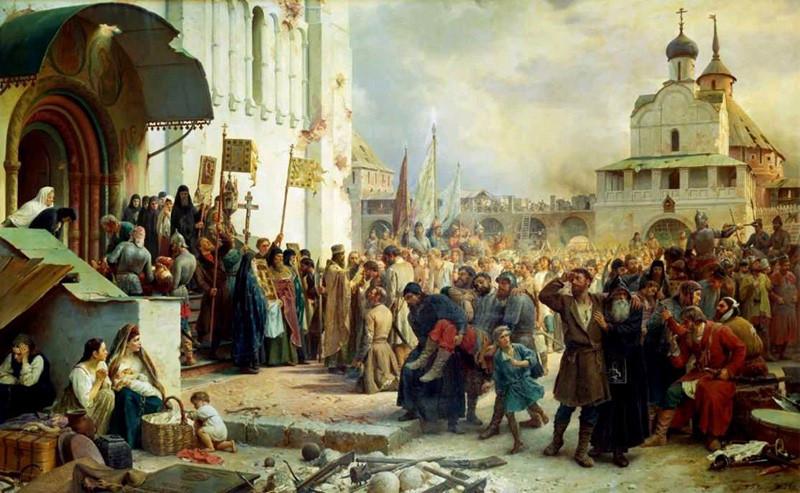 Осада Троице-Сергиевой лавры_Верещагин_В_П_1891