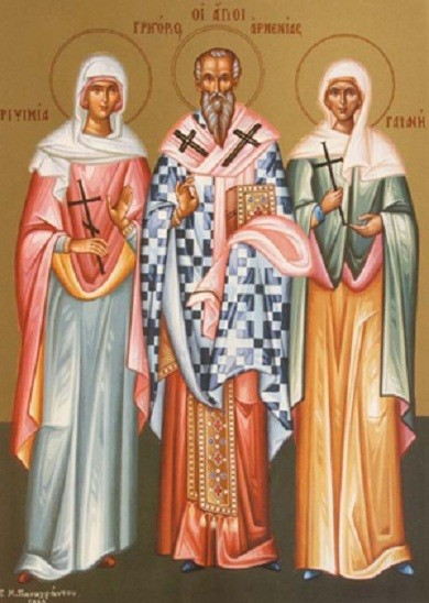 Преподобномученицы Рипсимия и Гаиания , сятитель_Григорий_просветитель_Армении