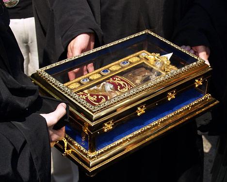 десница Иоанна Крестителя ковчежец
