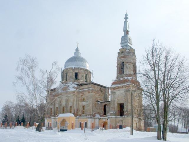 Спасский храм села Рай-Семеновское -восстанавливается