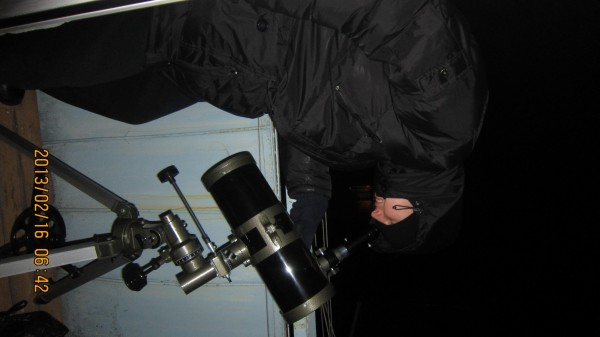 Я во время наблюдения за астероидом 2012 DA14.