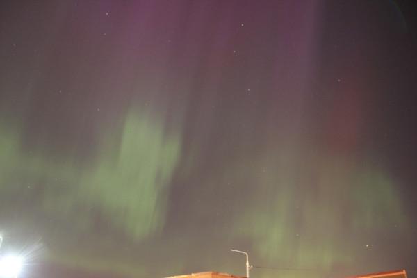 Полярное сияние 17.03.2015 над г. Королёвом.