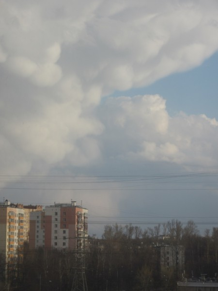 Вымеобразные облака 20.04.2016.