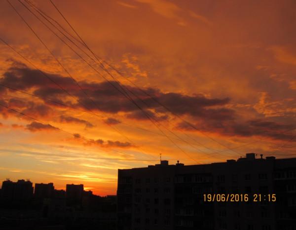 Закат в Праздник Святой Троицы.