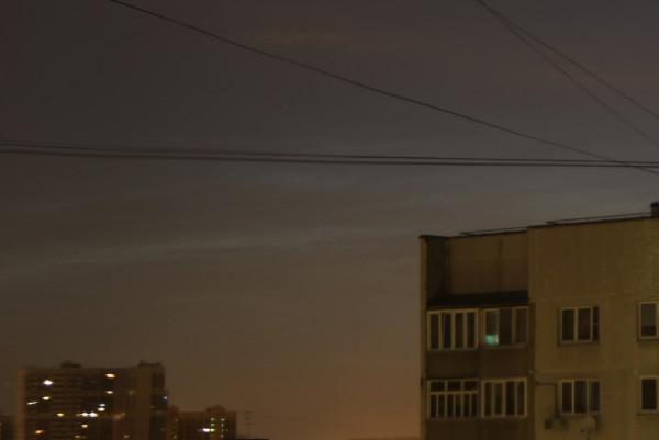Серебристые облака в ночь с 19 на 20 июня 2016 г.