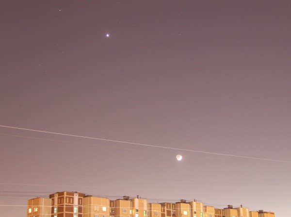 Венера, Марс и Луна 30.01.2017.